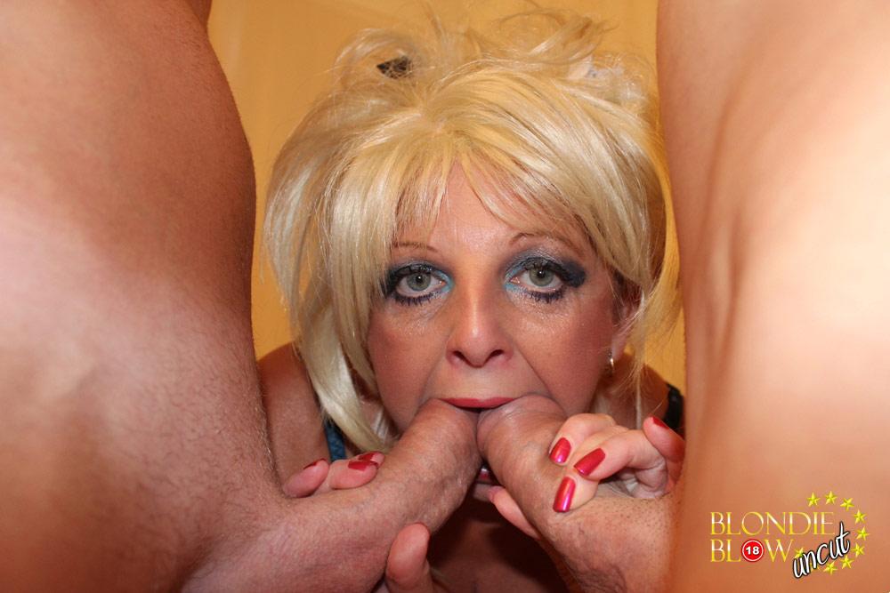 Spunk Loving Blondie Blow And Her Slutty Friend Suck On Two Hard